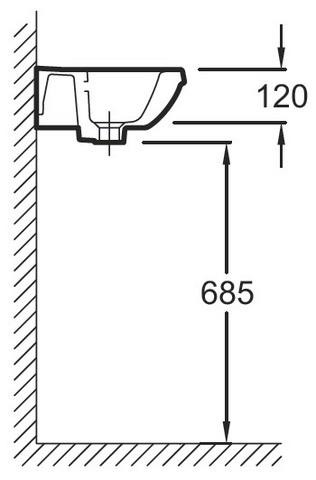 Jacob Delafon PANACHE E1439 Подвесная раковина - рукомойник