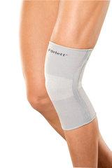 Бандаж на колено эластичный с метал. спиральными ребрами согревающий (BIOCERAMIC) SKN-103