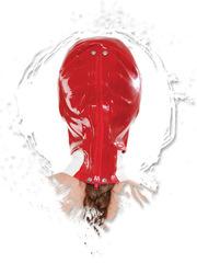БДСМ шлем медсестры из латекса красная - Malpractice Mask