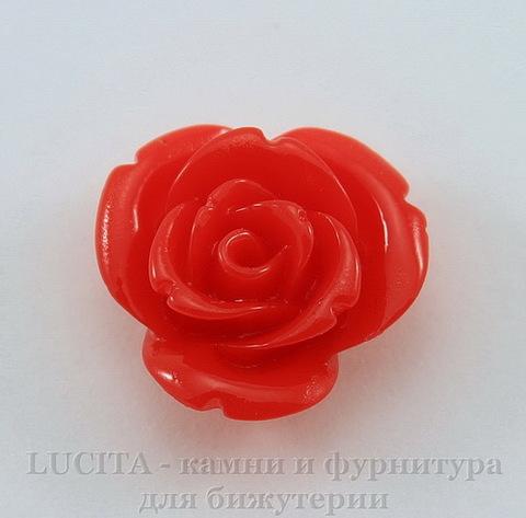 """Кабошон акриловый """"Розочка"""", цвет - красный, 15 мм"""