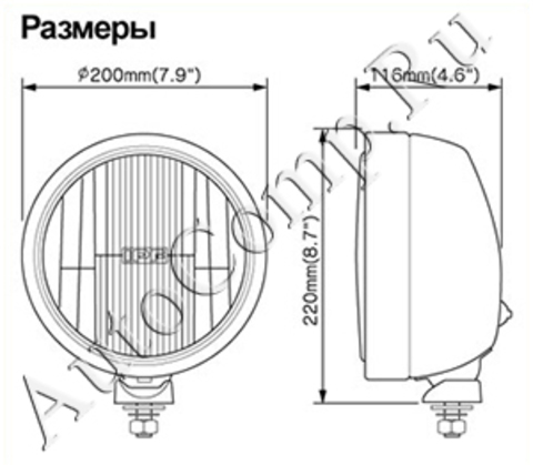 Дополнительные фары (доп. свет) IPF 900 XD
