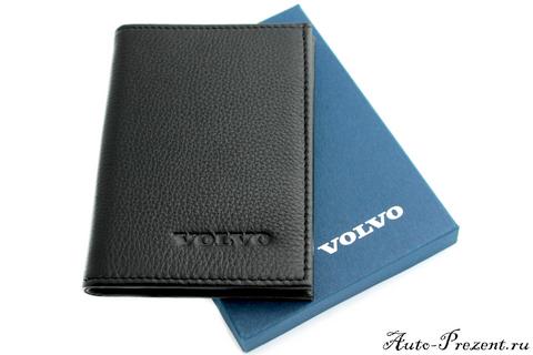 Портмоне для автодокументов из натуральной кожи с логотипом VOLVO