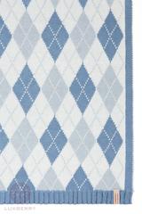 Элитный плед -покрывало Imperio 252 синий от Luxberry