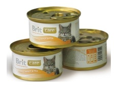 Brit Care with tuna, carrots & peas for cat
