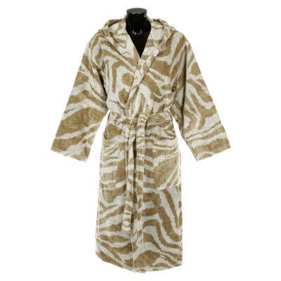 Элитный халат велюровый Zebra бежевый от Roberto Cavalli
