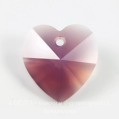 6202/6228 Подвеска Сваровски Сердечко Cyclamen Opal (14,4х14 мм)