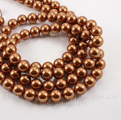 5810 Хрустальный жемчуг Сваровски Crystal Copper круглый 8 мм , 5 шт