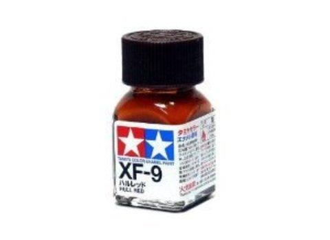 XF-9 Краска Tamiya Красная Корпусная Матовая (Flat Hull Red), эмаль 10мл