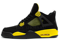 Кроссовки Мужские Nike Air Jordan 4 Retro Black Yellow