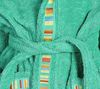 Элитный халат детский махровый Yupi зелёный от Caleffi