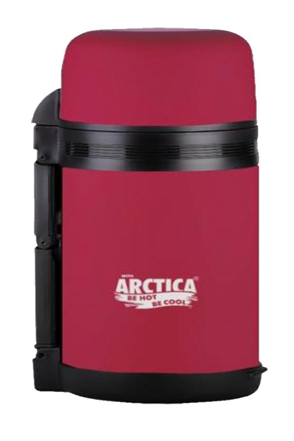 Термос универсальный (для еды и напитков) Арктика (0,8 л.) с широким горлом, красный матовый