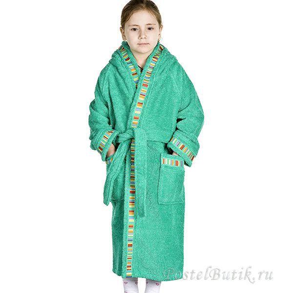 Халаты Элитный халат детский махровый Yupi зелёный от Caleffi elitniy-halat-detskiy-yupi-zeleniy-ot-caleffi-italiya.jpg