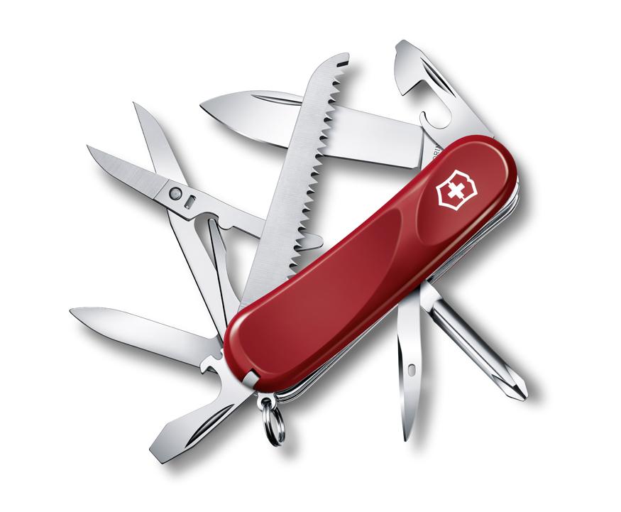 Нож Victorinox Evolution 18, 85 мм, 15 функ, красный
