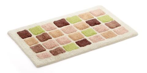 Элитный коврик для ванной Nancy бежево-зеленый от Carrara
