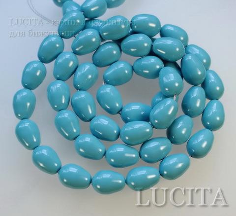 5821 Хрустальный жемчуг Сваровски Crystal Turquoise грушевидный 11х8 мм ()