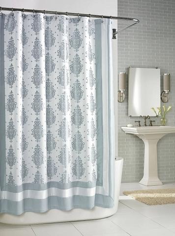 Элитная шторка для ванной Roma Seafoam от Kassatex