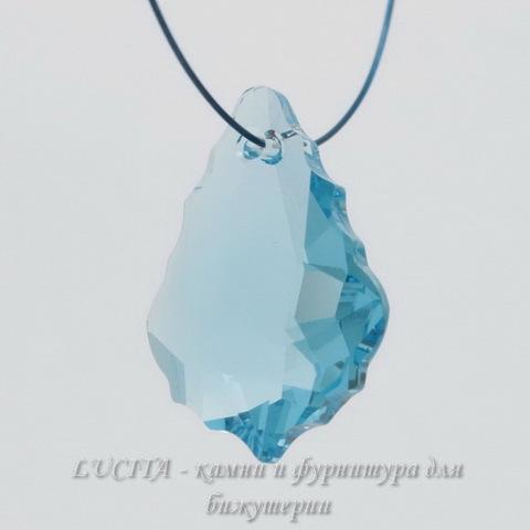 6090 Подвеска Сваровски Baroque Aquamarine (16х11 мм) ()