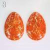 Кабошон Яшма Императорская (прессов., тониров) 50х35х7 мм (№8 (оранжевый))