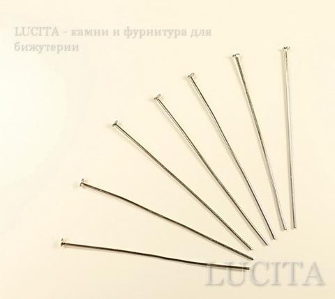Комплект пинов - гвоздиков (цвет - античное серебро) 50х0,8 мм, примерно 300 штук