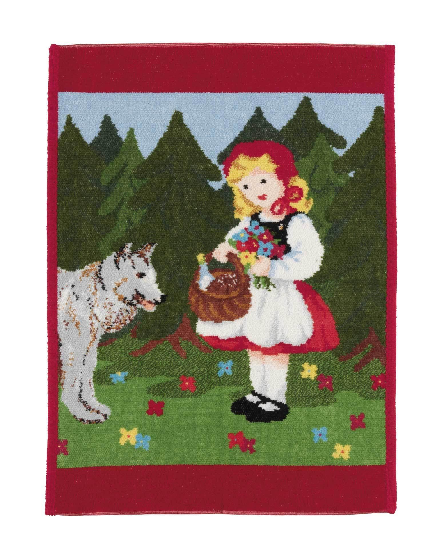 Полотенце детское 37x50 Feiler Marchen Little Red Riding Hood 120 красное