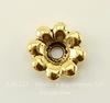 """Элемент под заклепку TierraCast """"Цветок""""11 мм  (цвет-античное золото)"""
