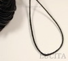 Вощеный шнур, 1 мм, цвет - черный, примерно, 80 м