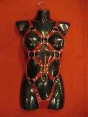 Комплект женский красный лак (БДСМ одежда)
