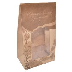 Natural Cosmetics Пакет подарочный бумажный/крафт с окошком 20,0*11,5*6,5 см