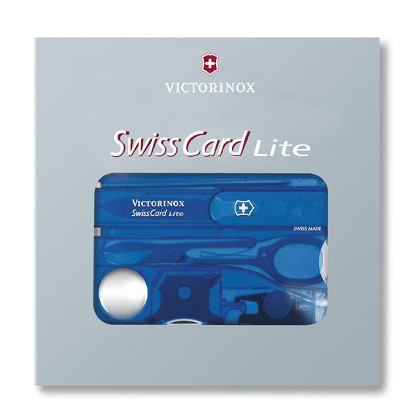 Швейцарская карточка Victorinox SwissCard Lite Blue синяя (0.7322.T2)
