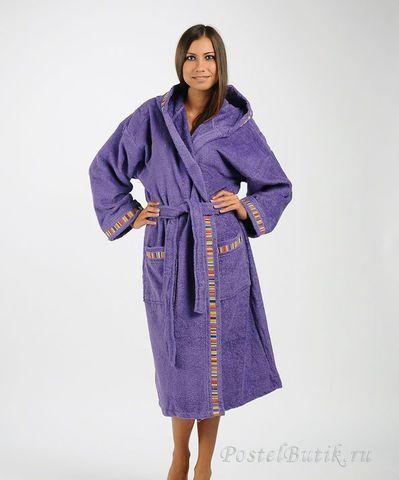 Элитный халат махровый Yupi фиолетовый от Caleffi