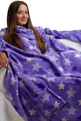 """Плед с рукавами """"Фиолетовые звезды"""""""