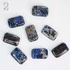 Кабошон Яшма Императорская синяя (прессов., тониров) (№2 (20х12 мм))