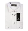 Белая мужская приталенная slim fit со складками сорочка GIOBERTI под смокинг (носить с бабочкой)