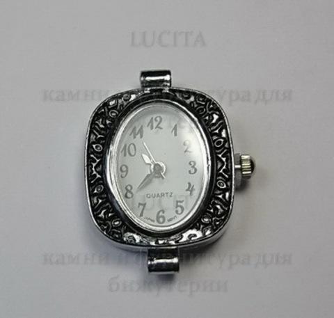 Основа для часов (цвет - античное серебро) 29х24х8 мм ()