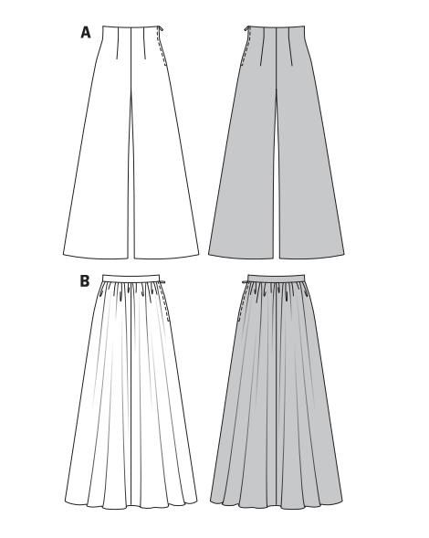 Юбка брюки burda
