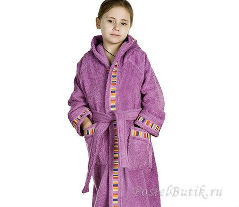 Элитный халат детский махровый Yupi цикламен от Caleffi