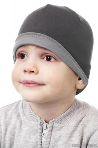 Шапка дет., т.-сер/серый