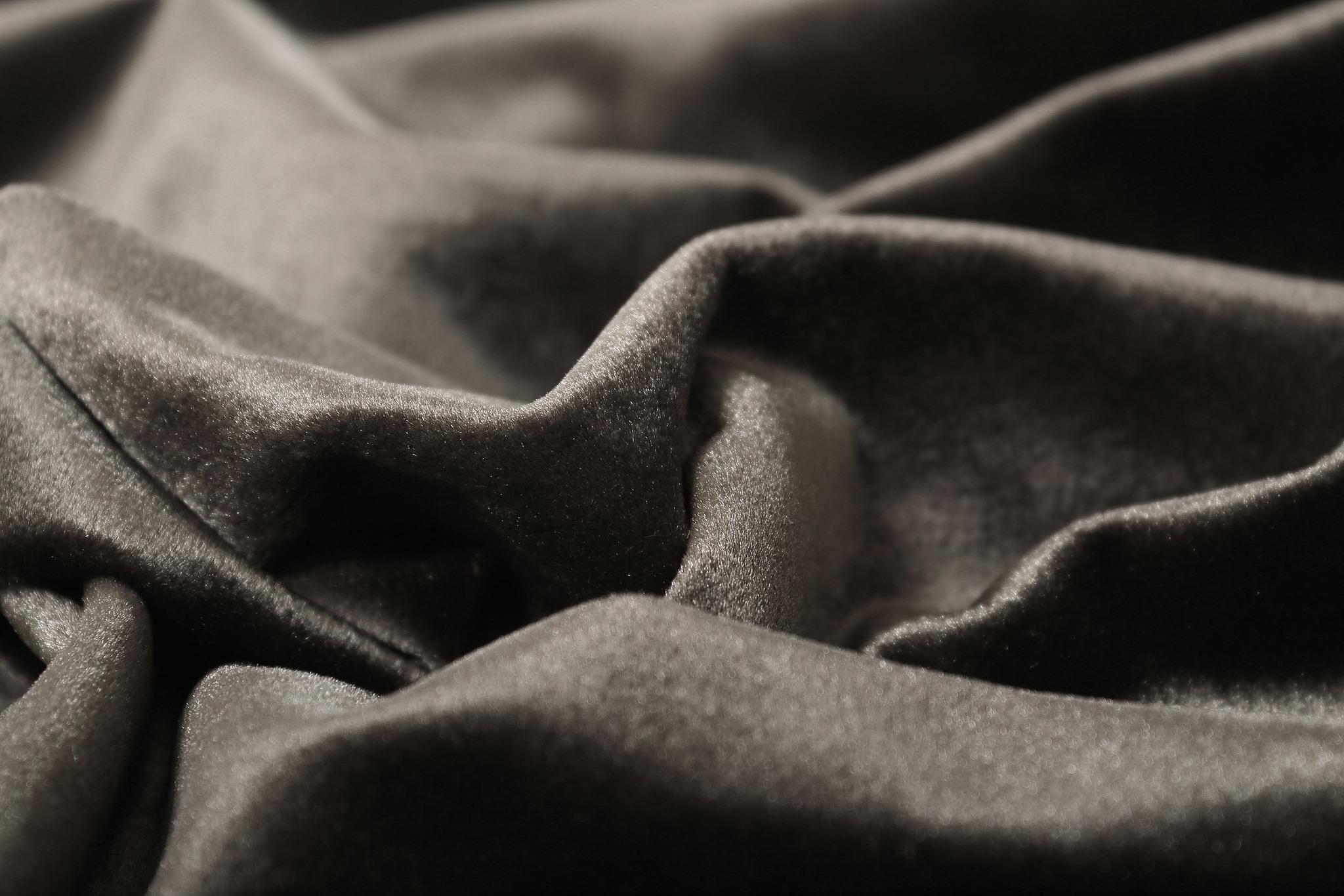 Velour (Slate gray). Шторы из велюра из серии Luxe.