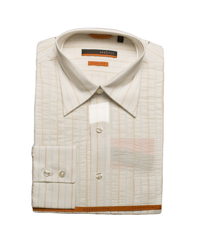 Рубашка Grostyle дл/рукав айвори полоска