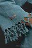 Элитный халат хлопковый Meyzer Tassels бирюзовый от Hamam