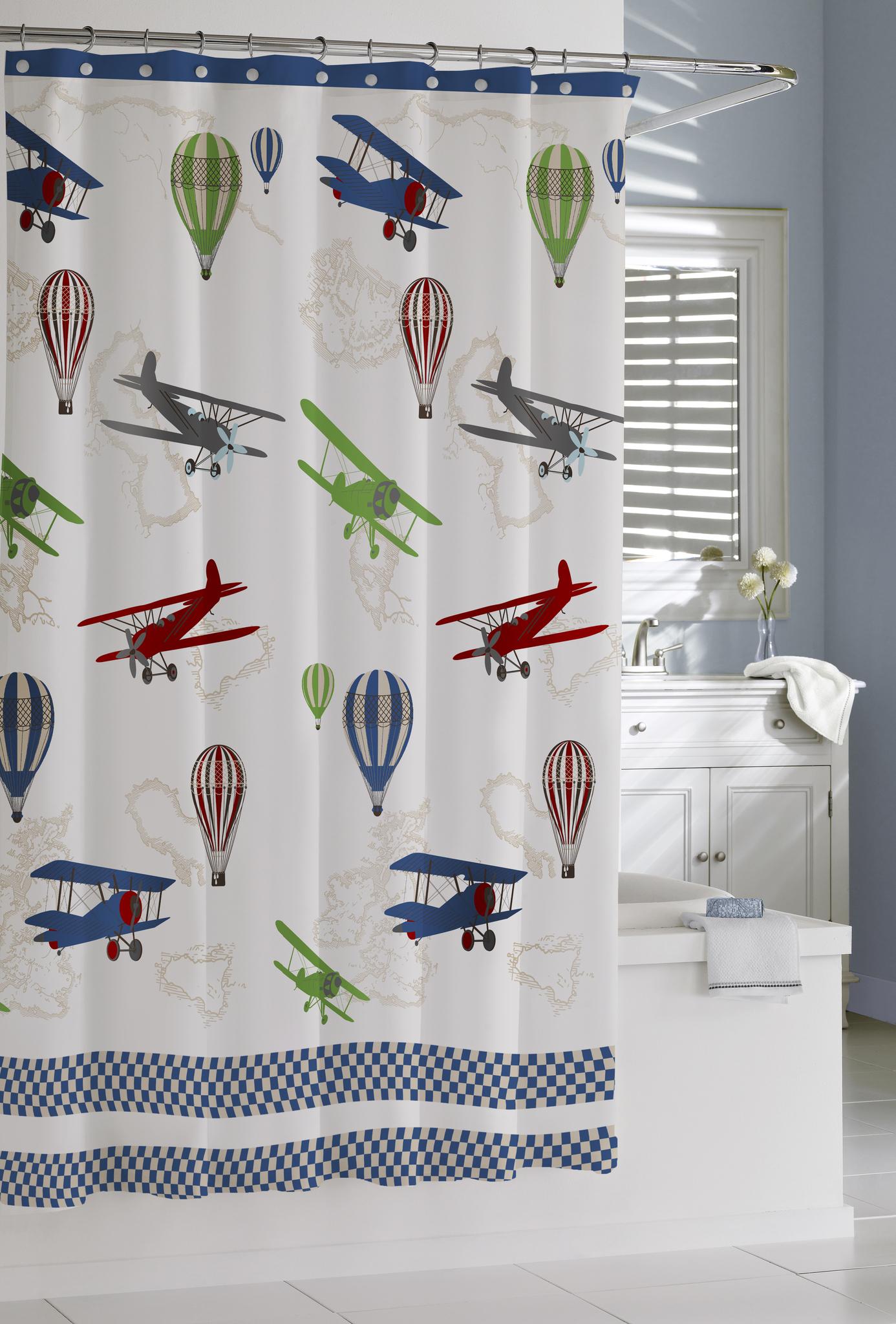 Шторки для ванной Шторка для ванной детская 183x183 Kassatex In Flight elitnaya-shtorka-dlya-vannoy-in-flight-ot-kassatex-ssha-kitay.jpg