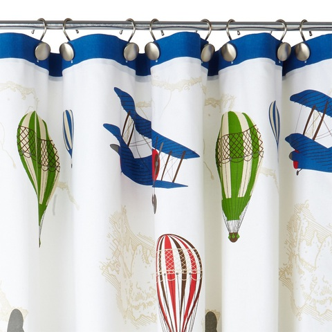 Элитная шторка для ванной детская In Flight от Kassatex