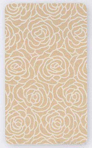 Элитный коврик для ванной махровый Rosetta натуральный от Caleffi