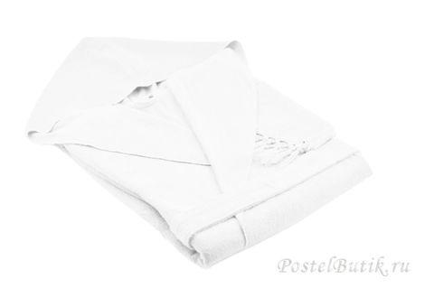 Элитный халат хлопковый Meyzer Tassels белый от Hamam