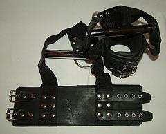 Наручники для подвешивания с хромированной трубкой