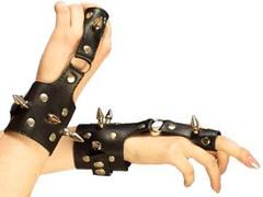 Интим наручники, декорированные шипами