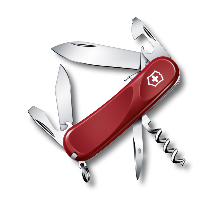 Нож Victorinox Evolution S101, 85 мм, 12 функ, красный
