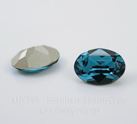 4120 Ювелирные стразы Сваровски Indicolite  (14х10 мм) ()
