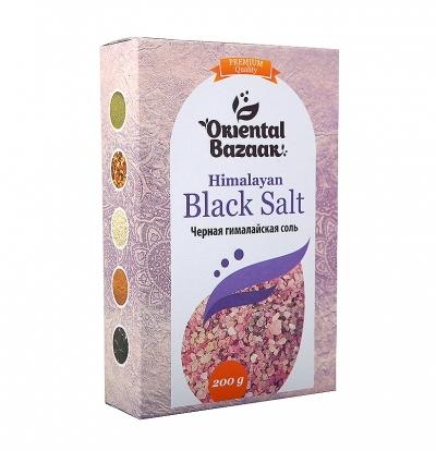 Черная гималайская соль Oriental Bazaar / Black Salt, 200 г