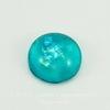 Кабошон стеклянный голубой с блестками 10х4 мм